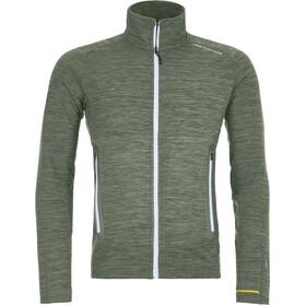 Ortovox Merino Fleece Light Melange Jacket Men green forrest blend
